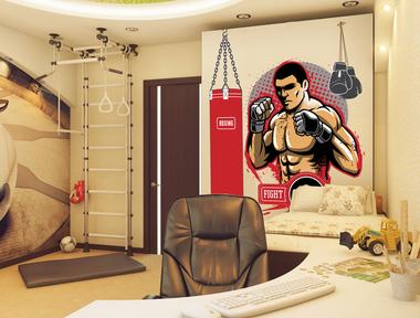 Наклейка Боксер, спорт