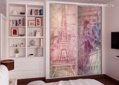 Наклейка Париж. Коллаж