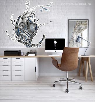 Наклейка Owl print
