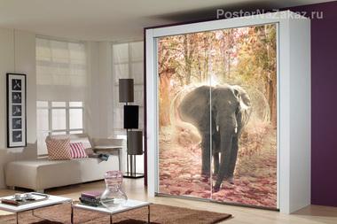 Наклейка Свадебный слон