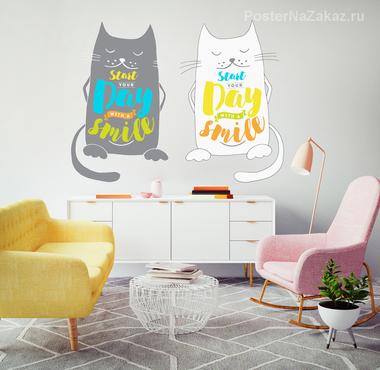 Наклейка Братья коты