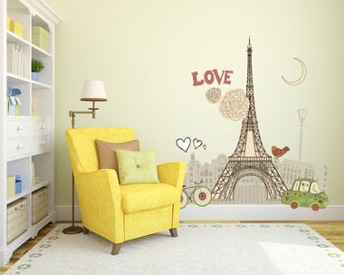 Наклейка Париж. Эйфелева башня