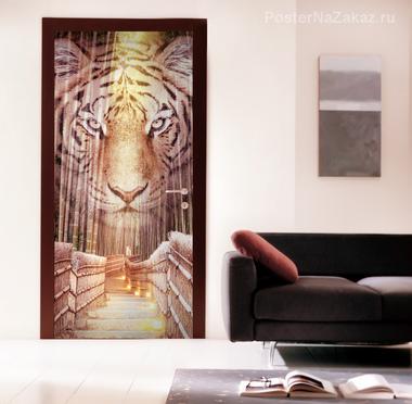Наклейка Бенгальский тигр
