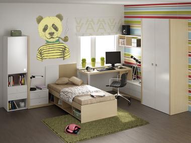 Наклейка желтая панда