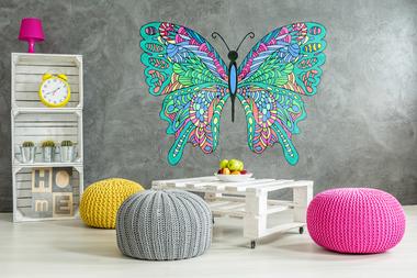 Наклейка ажурная бабочка