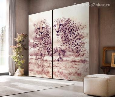 Наклейка Гепарды саванны