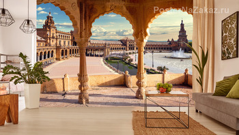 Фотообои Испанская площадь в Севилье