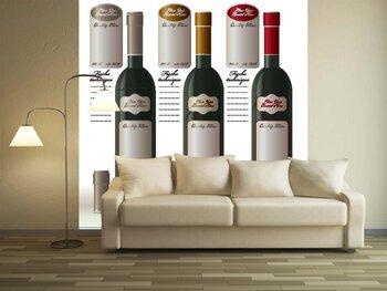 Фотообои Три бутылки вина