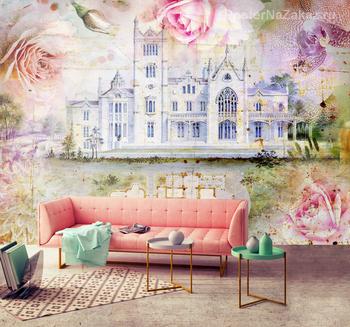 Фотообои Дворец в цветах