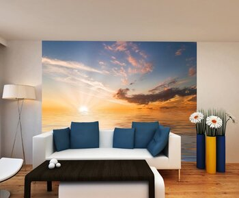 Фотообои на стену Сумерки спустились над морским берегом