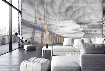 Фотообои Мост, абстракция