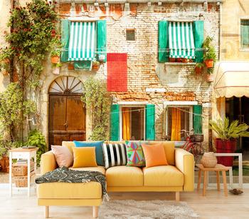 Фотообои Старинный фасад в Италии