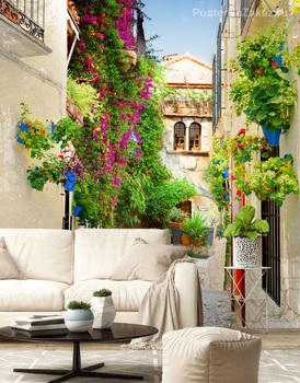 Фотообои Цветущая улица Испании