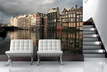 Фотообои Вид с реки. Амстердам
