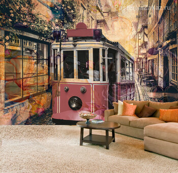 Фотообои ретро трамвай