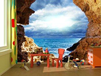 Фотообои Вид на море из пещеры