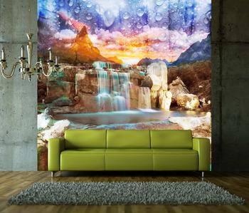 Фотообои Голубой водопад
