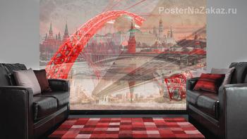 Фотообои Мост через Москва-реку