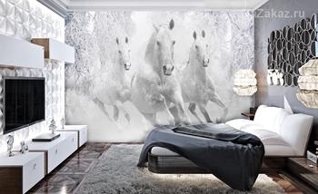 Фотообои Зимние лошади