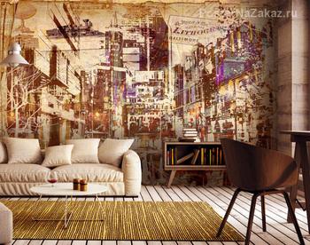 Фотообои на стену Схема ракеты
