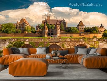 Фотообои Панорамный вид на замок