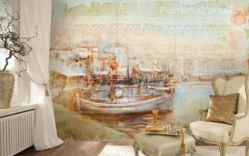 Фотообои Лодки в гавани