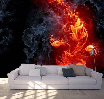 Фотообои Огненный цветок