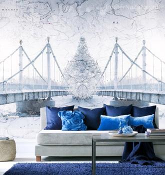 Фотообои Мост зимой