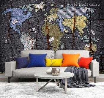 Фотообои Джинсовая карта