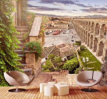 Фотообои Древний акведук в Испании