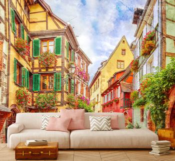 Фотообои Красочная улица во Франции