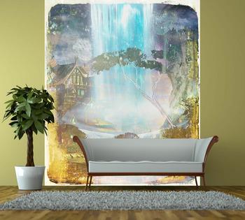 Фотообои на стену Водопад на закате