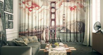 Фотообои мост Золотые ворота в Сан-Франциско