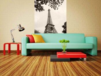 Фотообои Париж. Эйфелева башня в серых тонах