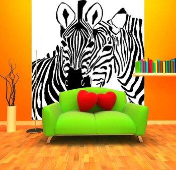 Фотообои Две дружелюбные зебры