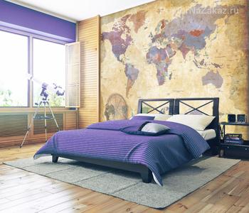 Фотообои Винтажная карта мира