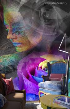 Фотообои Разноцветная Роза